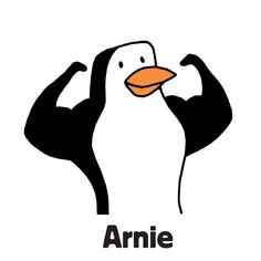 """Arnie is one of the family of penguins to find in """"Zoo Escape"""", one of the search-and-find jigsaw puzzles I'm offering on Kickstarter. The image first appeared in my book """"Where's the Penguin?"""". Follow the link for more info.  #searchandfind #jigsawpuzzle #jigsaw #puzzle #childrensbook #kidlit #wheresthe #seekandfind #cartoon #cartoonart #seekandfind  #zoo #animals #penguin #strong #healthy #muscles #muscular #arnie"""