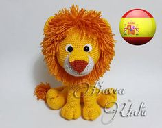 English Pattern Lion Amigurumi by HavvaDesigns on Etsy Crochet Lion, Crochet Amigurumi, Knit Or Crochet, Amigurumi Patterns, Crochet Animals, Crochet Dolls, Crochet Patterns, Lion Toys, Cute Lion