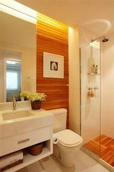 Resultado de imagem para banheiro com deck no box como funciona - Bathroom Sink Decor, White Bathroom Cabinets, Bathroom Renos, Bathroom Layout, Bathroom Renovations, Bathroom Interior, Small Bathroom, Bathroom Organization, Bathroom Storage