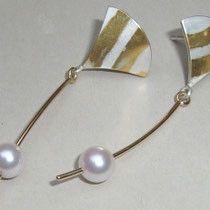 ungewöhnliche Ohrstecker Unikate mit Perlen