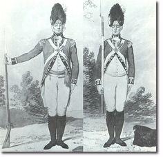 THE THIRD REGIMENT OF FOOT GUARDS (SCOTS GUARDS) SARGENTO y SOLDADO DE LA COMPAÑIA DE GRANADEROS - 1792. Más en www.elgrancapitan.org/foro