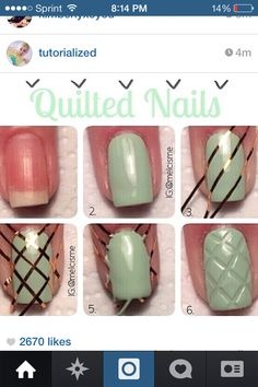 Quilted nails
