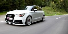 Audi A1 quattro with suspension by KW