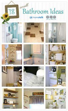 Small Bathroom Inspiration - DIY Show Off ™ - DIY Decorating and Home Improvement Blog