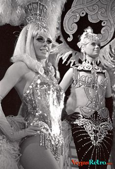 Photo of Tropicana Showgirls from Folies Bergere.  Wish there was a better image of the costume of the gal to the right!