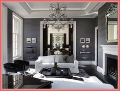 living grey london contemporary interior bradley louise luxury inspiration dark gesso rooms gray sancas salas country interiors reference wohnzimmer grau