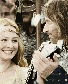 Eowyn and Faramir is suuuuuch an awesome story. Tolkien is the best Eowyn And Faramir, Aragorn, Legolas, Tauriel, Arwen, The Hobbit Movies, O Hobbit, Gandalf, Fellowship Of The Ring