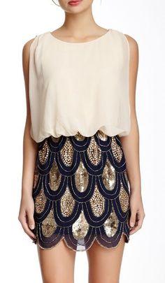 Gracia Embroidered Drape Top Dress
