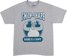 Round Shape Homer Simpson Shirt
