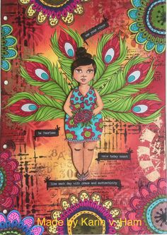 Art journal page Mixed Media Journal, Mixed Media Art, Art Journal Pages, Art Journals, Peacock Canvas, Art Journal Inspiration, Journal Ideas, Diy And Crafts, Doodles