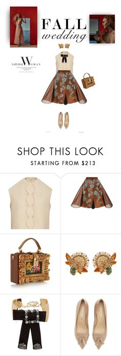 """You make me feel like (A natural woman)"" by iriadna ❤ liked on Polyvore featuring Delpozo, Dolce&Gabbana, Kurt Geiger and fallwedding"