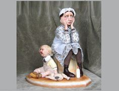 The art doll ...... Babysitting by GladOArt on Etsy, $1500.00 (lol so ugly but beautiful at the same time)