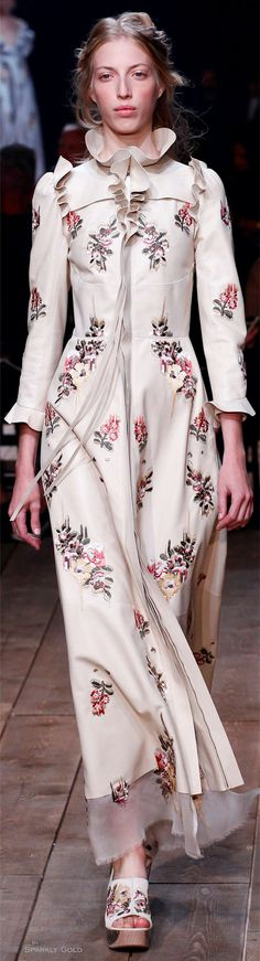 Alexander McQueen Spring 2016 RTW - and the floral shoes.