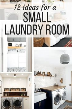Ideas for a small laundry room - organization, decor, DIY projects and great makeovers that add storage, color, decor, and style!