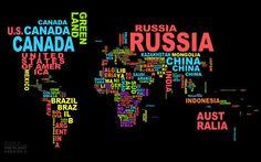 Países con sus nombres