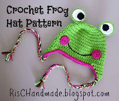 Crochet Frog Hat Pattern - free crochet pattern!