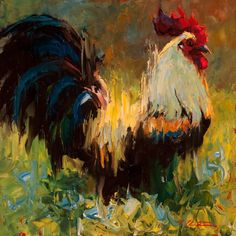 """Cheri Christensen on Instagram: """"Cocky in Comfort #insightgallery #impressionism #animalsinart #roosters #roostersofinstagram #chickensofinstagram #chickensinart"""" Impressionist Paintings, Impressionism, Ap Art, Beautiful Artwork, Photo And Video, Gallery, Instagram, Oil, Roosters"""