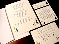 Soft White Rolling Hills Winter Custom Color Wedding Party Invitation