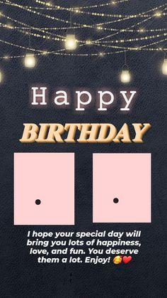 Happy Birthday Template, Happy Birthday Frame, Happy Birthday Posters, Happy Birthday Wallpaper, Birthday Posts, Birthday Captions Instagram, Birthday Post Instagram, Happy Birthday Best Friend Quotes, Happy Birthday Wishes Cards