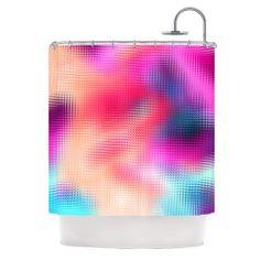 Kess InHouse Danny Ivan Own Luck Pink Purple 26 x 26 Square Floor Pillow