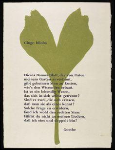 Ginkgo biloba, Josua Reichert & Goethe