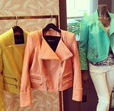 Sherbet Jackets with asymmetrical zippers