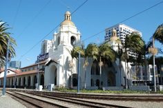 Union Station:  Build in 1915, Union Station is still in full operation and is a vital part of San Diego's transportation system.  3 separate train system's run thru here.  Amtrak Surfliner.  San Diego Coaster.  Intercity Trolley.