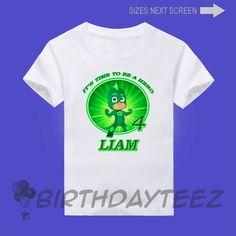 PJ Masks Gekko Boy's Birthday Shirt