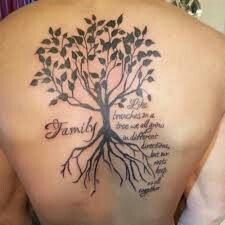 Like branches on a tree we all grow in different directions, but our roots keep us all together