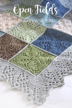 A brand new Crochet along from Cherry Heart and Black Sheep Wools for a beautiful and soothing blanket inspired by nature. Crochet Blocks, Granny Square Crochet Pattern, Afghan Crochet Patterns, Crochet Granny, Free Crochet, Knit Crochet, Crochet Afghans, Crochet Blankets, Black Sheep Wool