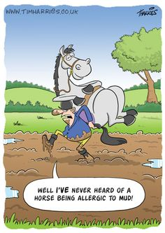 horse cartoons | ... Cartoons and Illustration: Monday's Random Calendar Cartoon - Horses