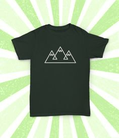 Simple Mountain Shirt Climb Mountains by PowerRocketShirtCo
