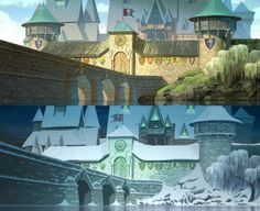 Frozen - Arendelle in the summer and winter