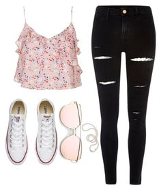 """""""No.2"""" by amazin-maze on Polyvore featuring Topshop, River Island, Converse, Mikimoto, Spring, school, pale, outfitoftheday and outfits"""