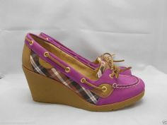 Sperry Top-Sider Womens Leather Angelfish Wedge Shoe 9.5M #SperryTopSider #PlatformsWedges