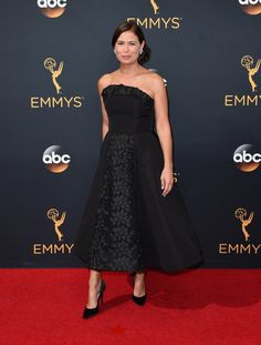 """Maura Tierney, a nominee for Supporting Actress in a Drama Series for """"The Affair,"""" wearing Christian Siriano. Correction: An earlier version of this caption misspelled the surname of an actress from """"The Affair."""" She is Maura Tierney, not Tierny."""