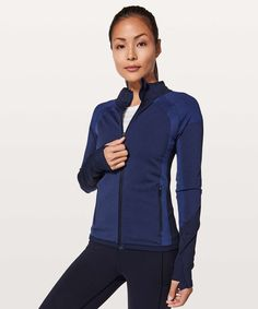 fb6c29d86f Lululemon Ready To Run Jacket Pinpoint - Midnight Navy / Moroccan Blue