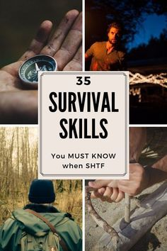 35 Survival Skills You Must Know When SHTF Here are 35 survival skills you must know when SHTF. Related Urban Survival Skills Most Commonly Overlooked - Smart Prepper GearHomemade. Survival Life Hacks, Survival Food, Outdoor Survival, Survival Prepping, Survival Skills, Survival Quotes, Best Survival Gear, Survival Gadgets, Survival Supplies