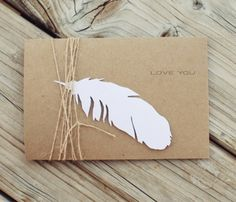 Feather invitation, should make my own invites this time maybe