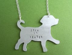 Cute spay/neuter necklace on Etsy