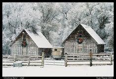 Christmas barns by willowhite
