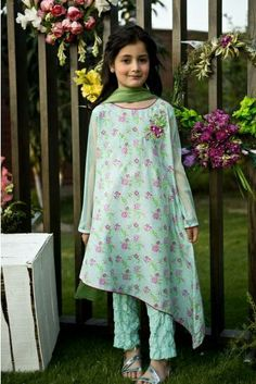 Maria B Kids Wear Lawn Embroidered two piece Dresses Kids Girl, Cute Dresses, Girl Outfits, Children Dress, Party Outfits, Party Dresses, Maria B, Pakistani Dresses, Indian Dresses