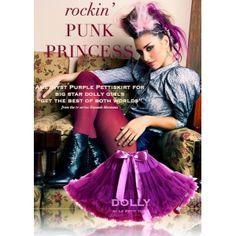 PUNK PRINCEZNÁ  petti sukňa Pretty Punk, Punk Princess, Big Star, Everyday Fashion, Tie Dye Skirt, Purple, Skirts, Polyvore, Petticoats