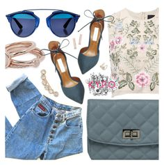 """Kick Your Pumps Off"" by pastelneon ❤ liked on Polyvore featuring Lola Rose, Needle & Thread, Steve Madden, Christian Dior, Blue, Trendy and spring2016"