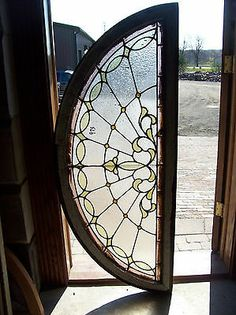Textured Glass Arched Transom Window w Jewels SG 1256 Stained Glass Designs, Stained Glass Panels, Stained Glass Projects, Stained Glass Patterns, Leaded Glass, Beveled Glass, Stained Glass Art, Mosaic Glass, Window Glass