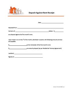Free Rent Receipt Template And What Information To Include , The Rent  Receipt Or Rental Invoice Refers To A Formal Document Recording And Proving  Payment Of ...