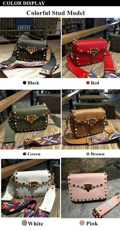 Aliexpress.com   Buy Burminsa Brand Stud Small PU Leather Crossbody Bags  For Women Designer Handbags High Quality Ladies Shoulder Messenger Bags  2018 from ... 909df687d9
