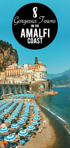 Amalfi Coast Italy is a wonderful vacation destination perfect for a honeymoon, family vacation, or to see authentic Italian scenery. Here are 8 gorgeous towns on the Amalfi Coast you NEED to visit! Vacation Ideas, Vacation Destinations, Vacation Games, Honeymoon Ideas, Vacation Travel, Beach Travel, Holiday Destinations, Europe Travel Tips, European Travel