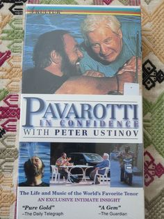 Pavarotti in Confidence with Peter Ustinov VHS Luciano Italy Opera Documentary