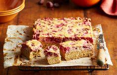 Raspberry ricotta slice
